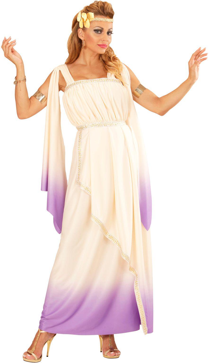 Wit lavendel kleurige jurk