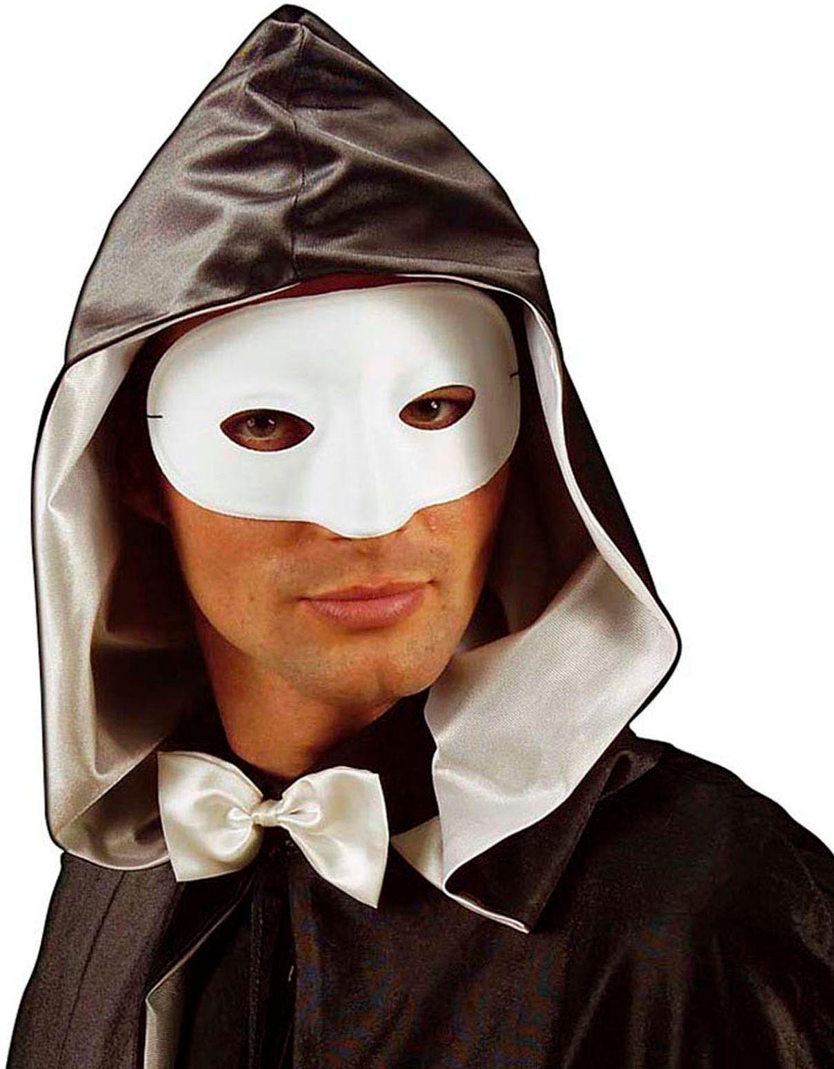 Wit maskerade oogmasker