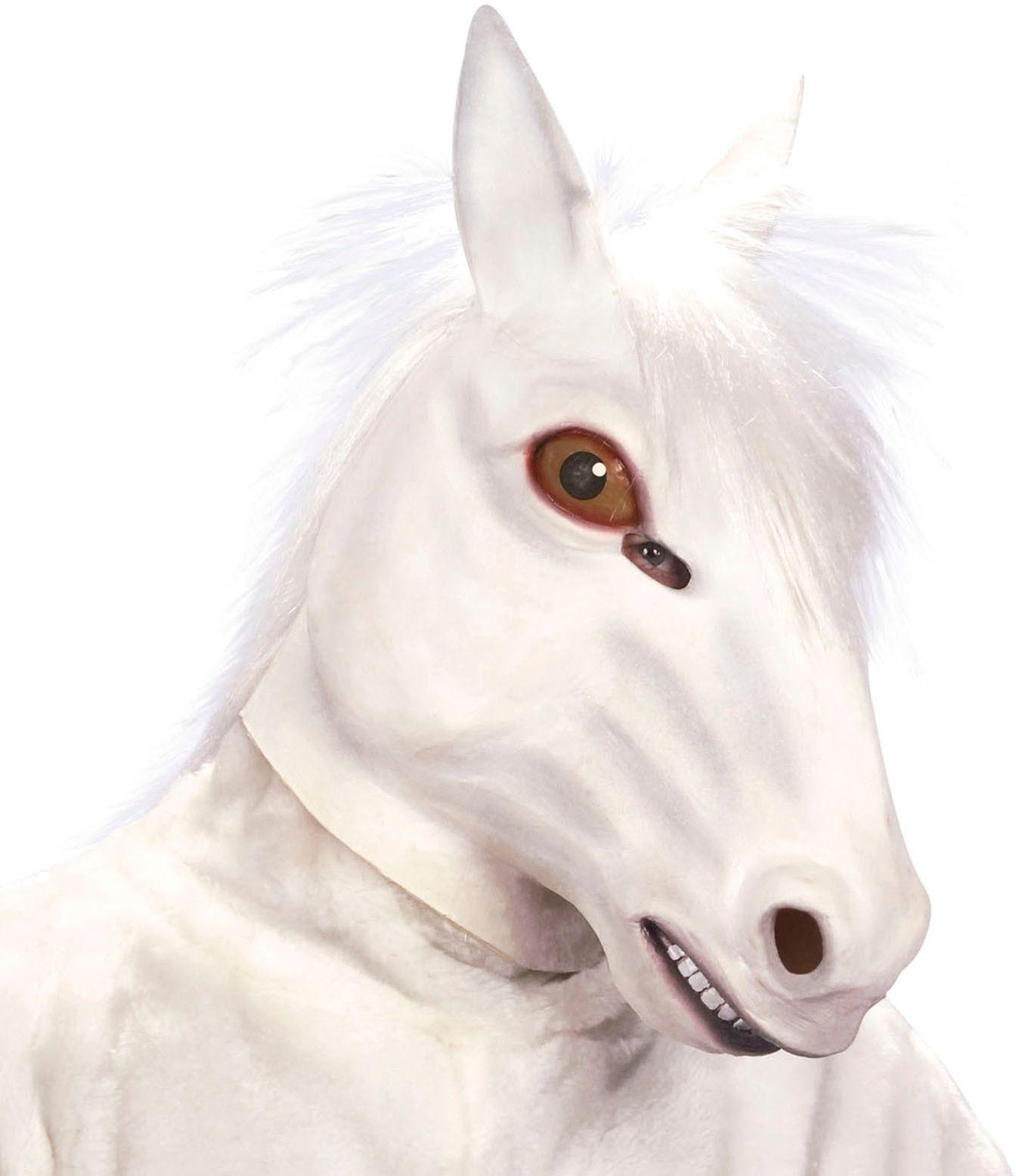 Wit paarden masker