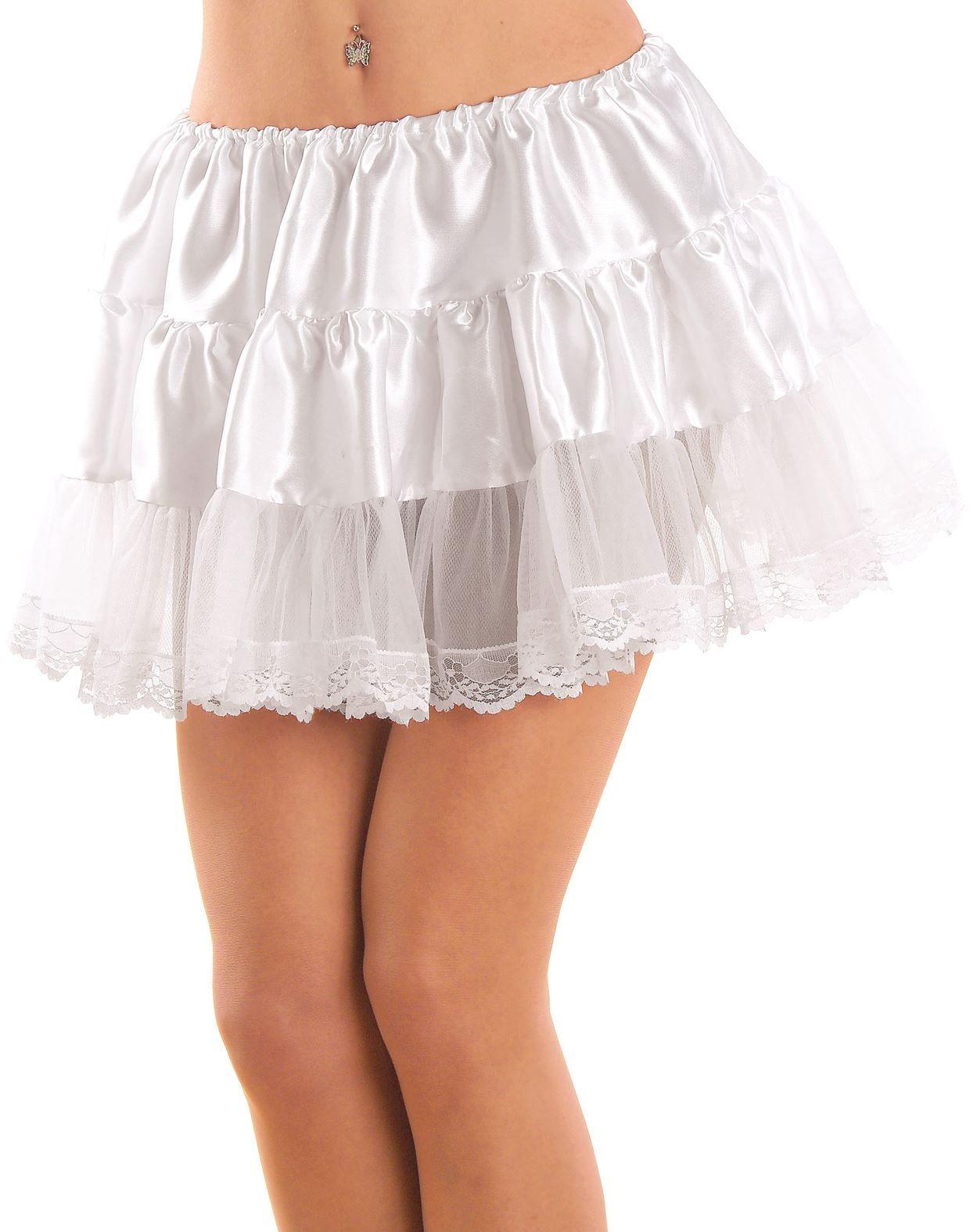 Wit petticoat met kant