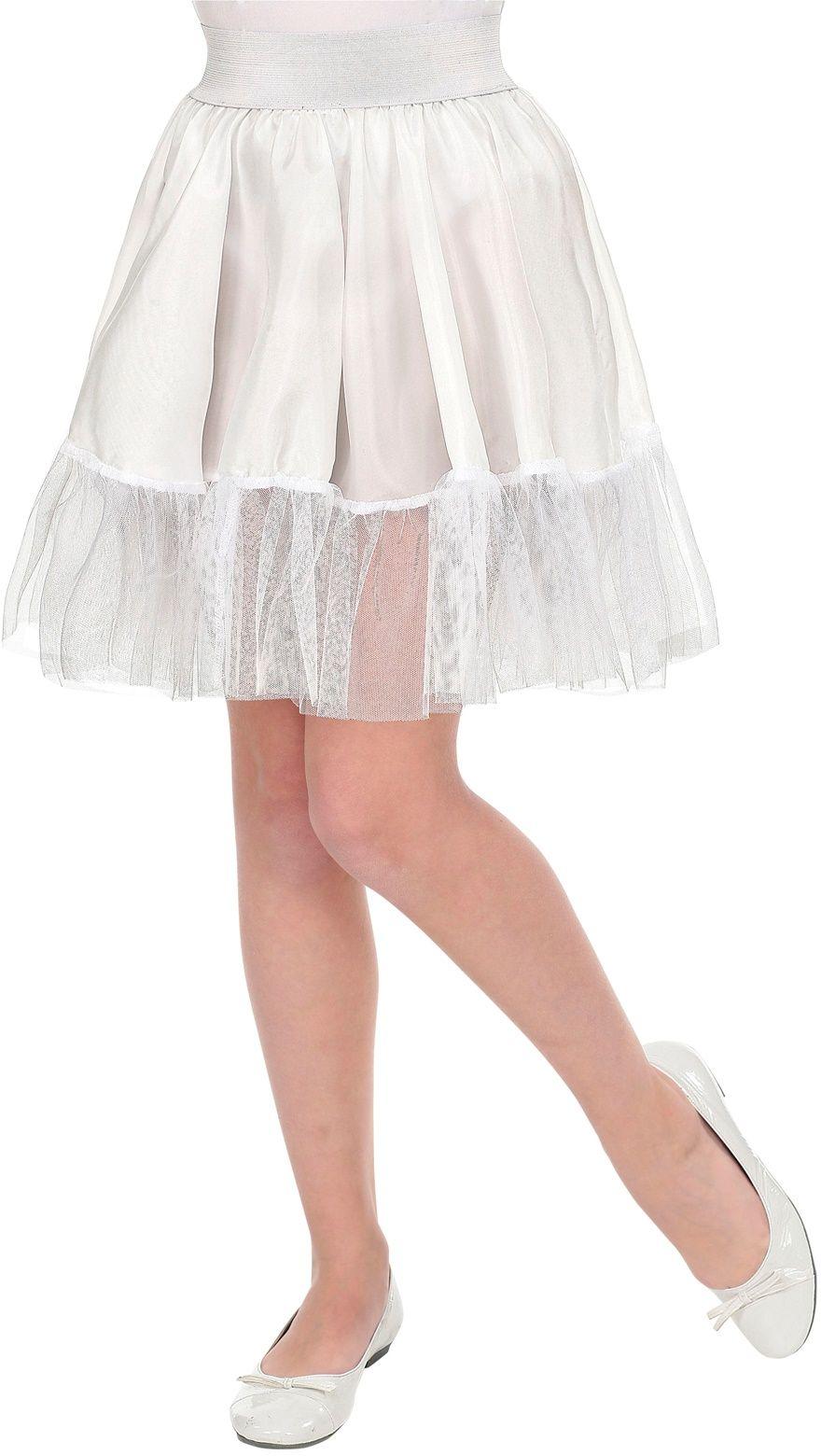 Wit petticoat rokje meisje