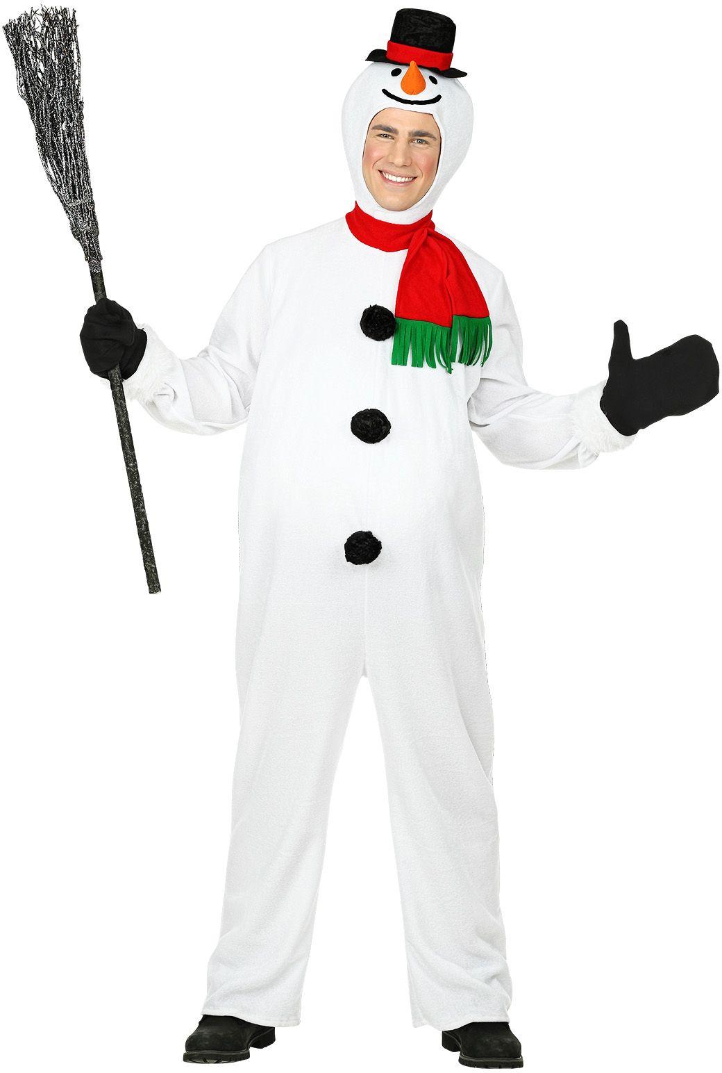 Wit sneeuwpop kostuum
