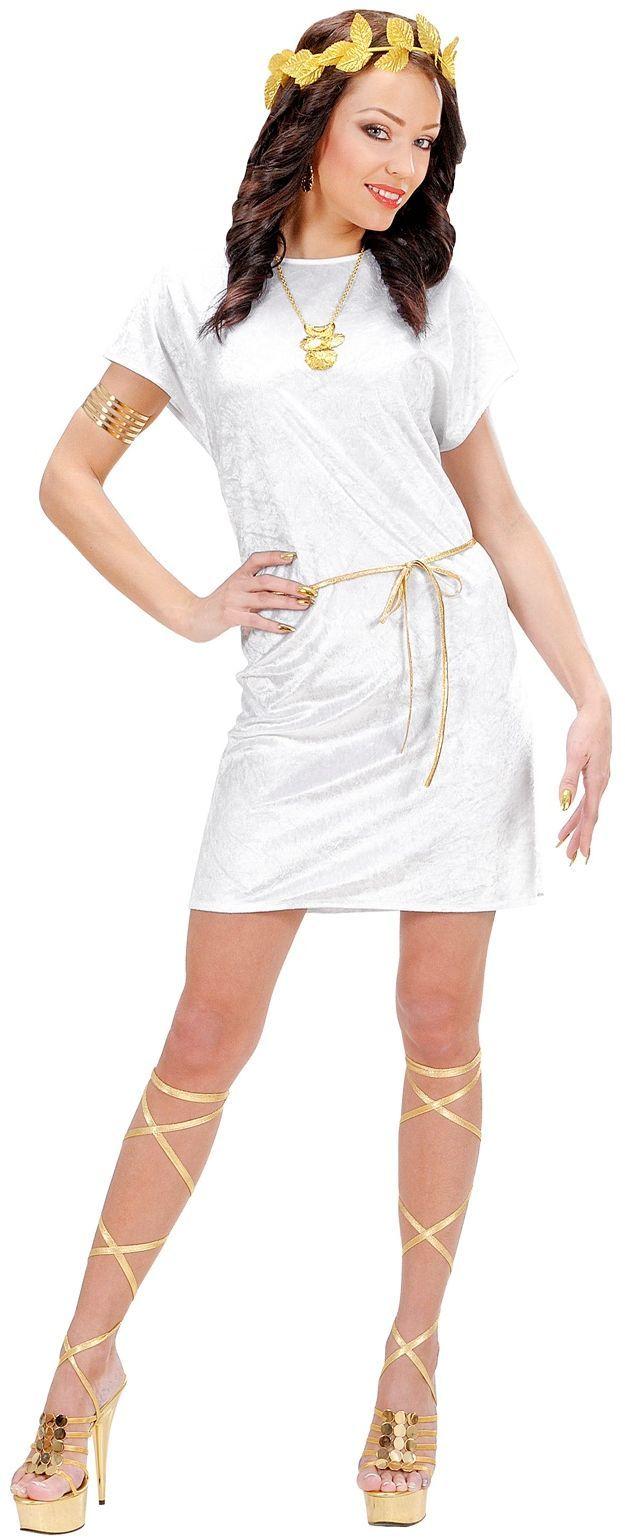 Wit Tuniek Met Gouden Riem