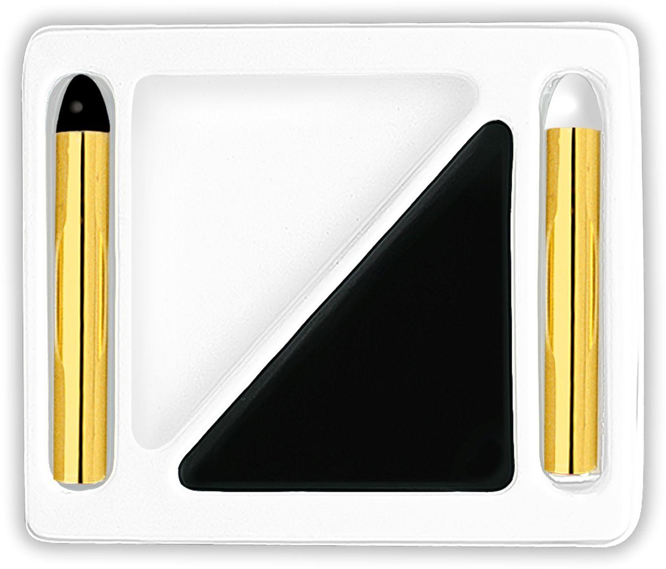 Wit-zwarte make-up set