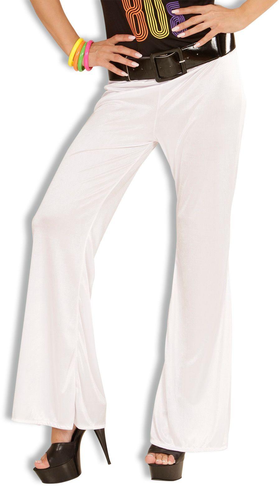 Witte 70s stretch broek