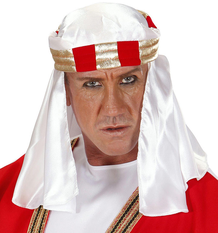 Witte arabische hoofddeksel
