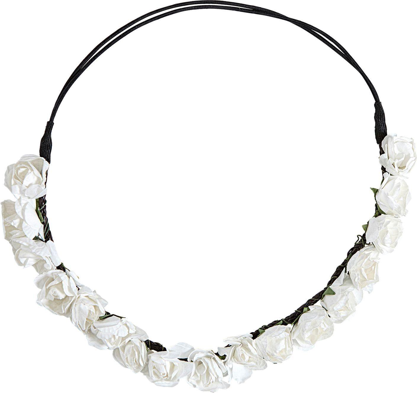 Witte bloemen hoofdband