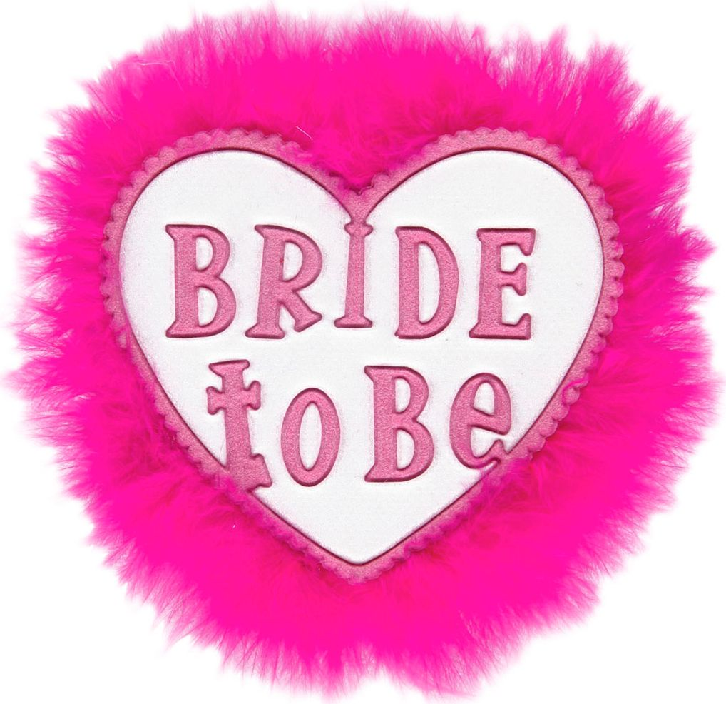 Witte Bride-to-be broche