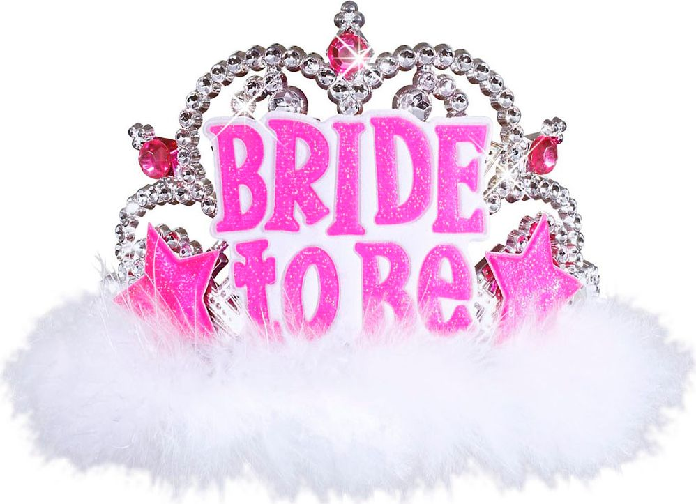 Witte Bride-to-be tiara
