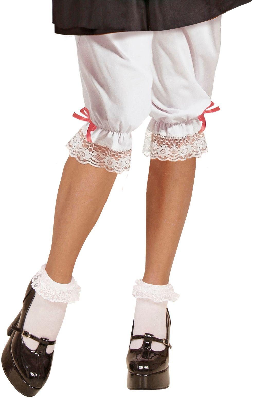 Witte broek met strikje oktoberfest