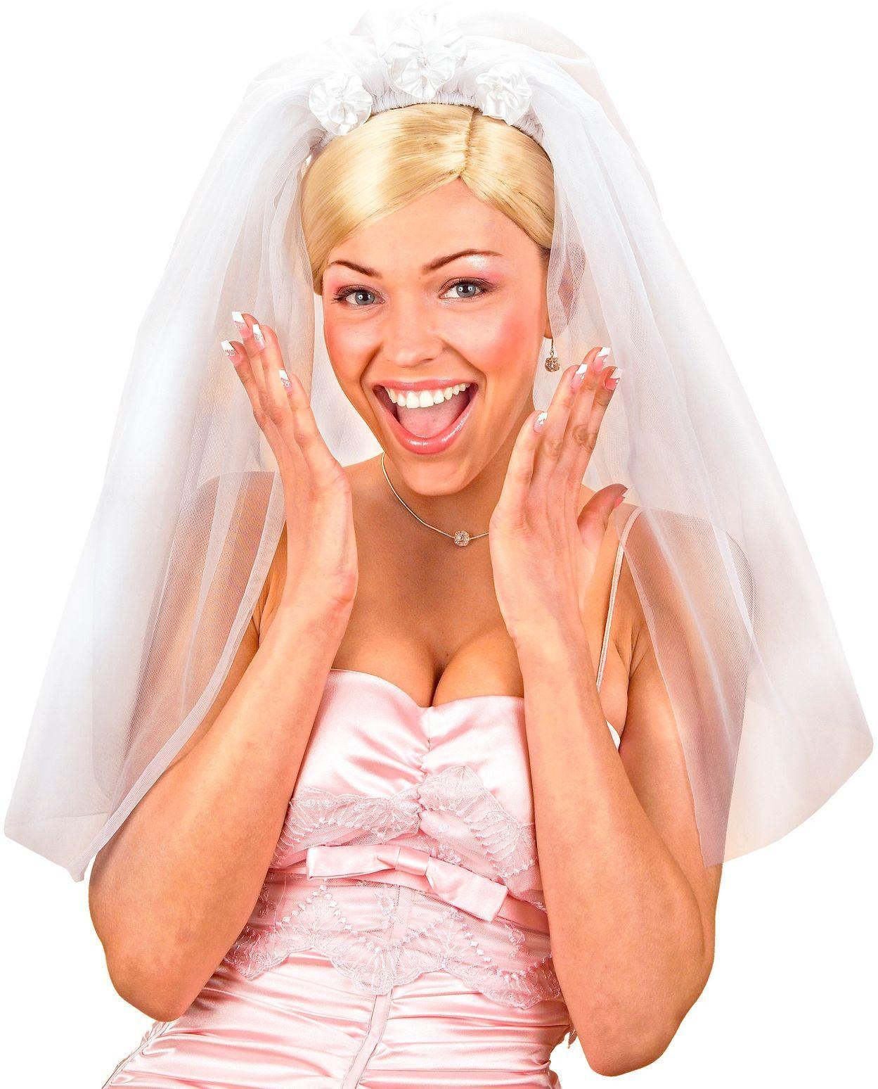 Witte bruidssluier