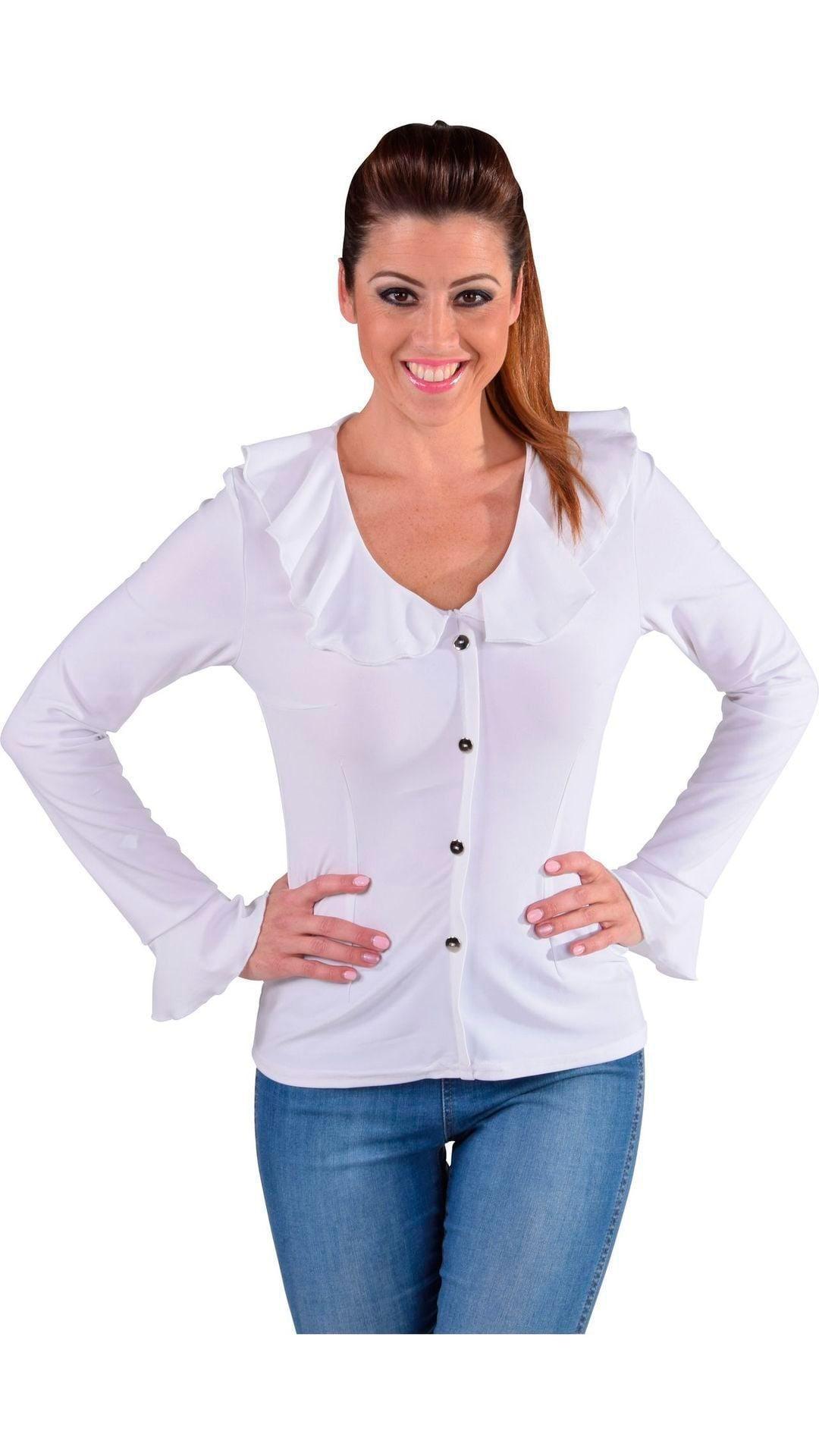 Witte carnavals blouse dames