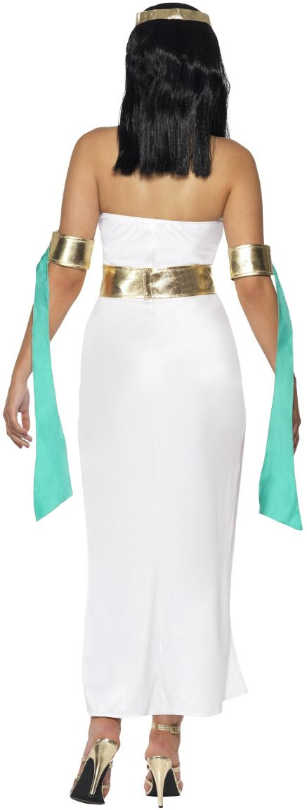 Witte Cleopatra sjieke jurk