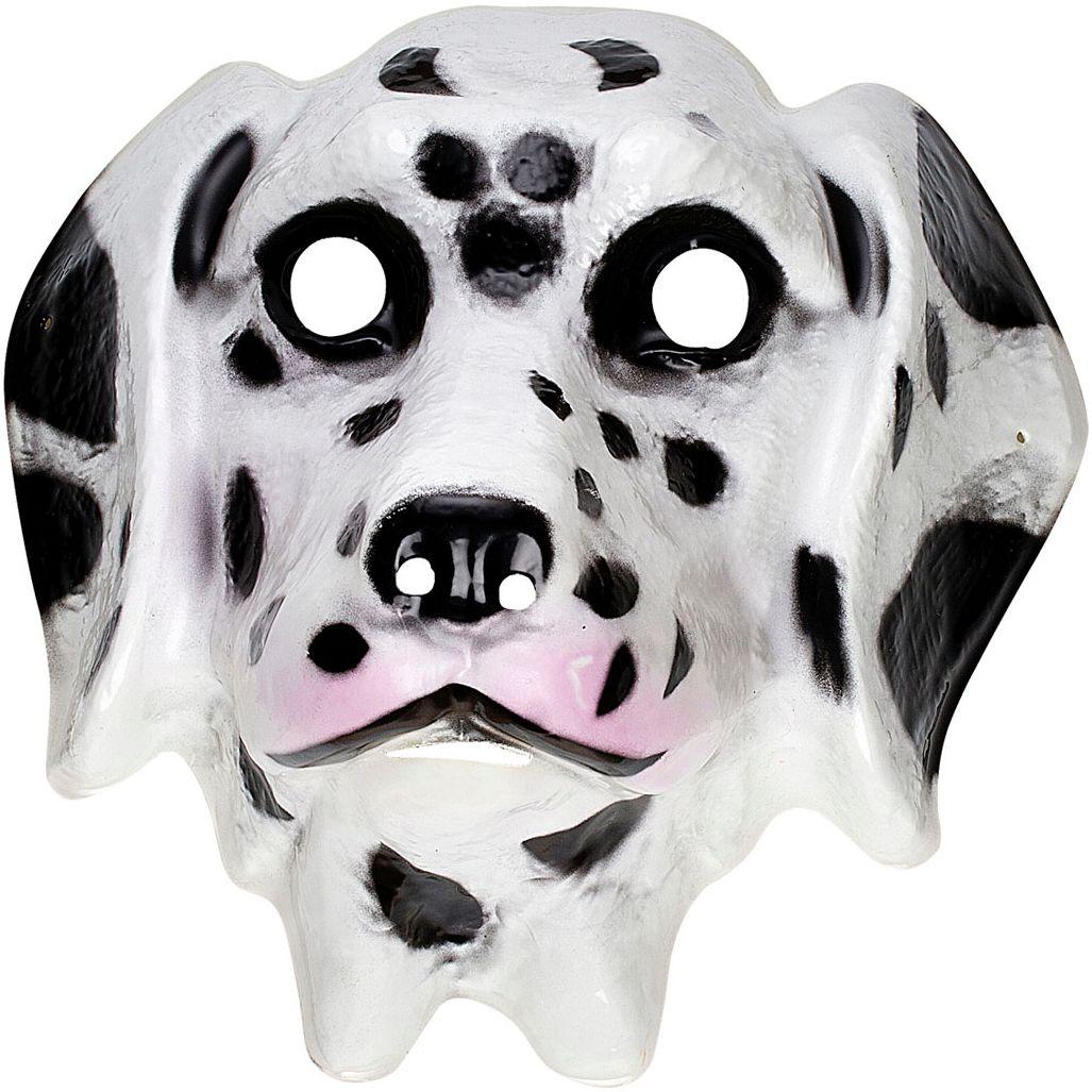 Witte dalmatiër masker kind