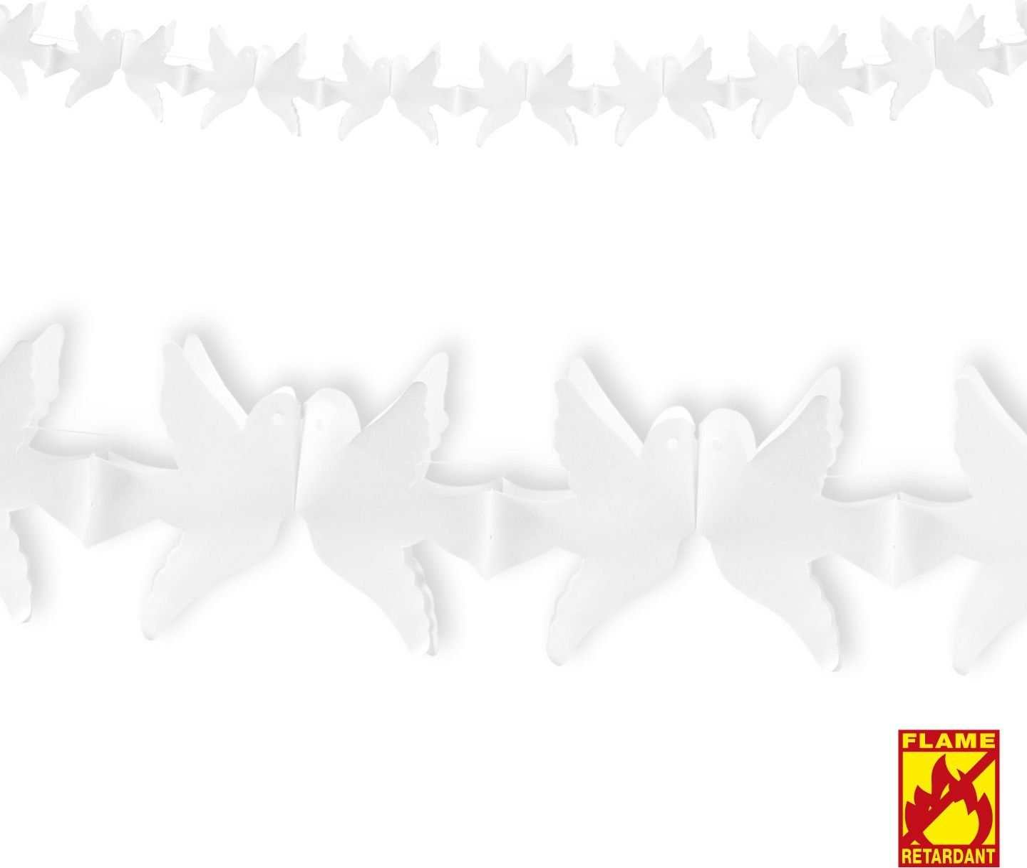 Witte duiven slinger