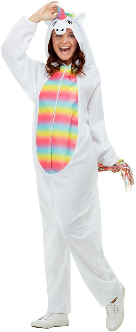 Witte eenhoorn onesie