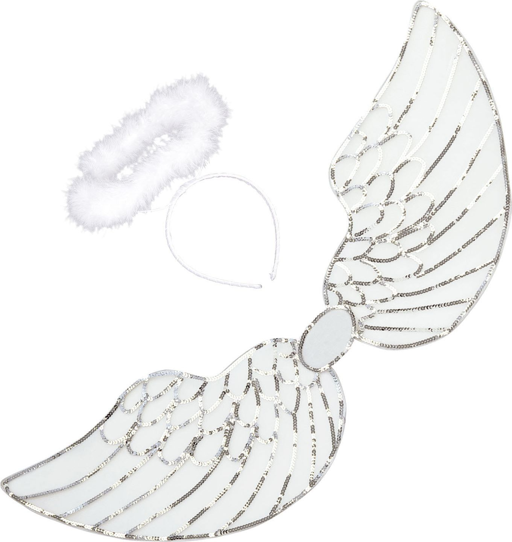 Witte engel vleugels met halo