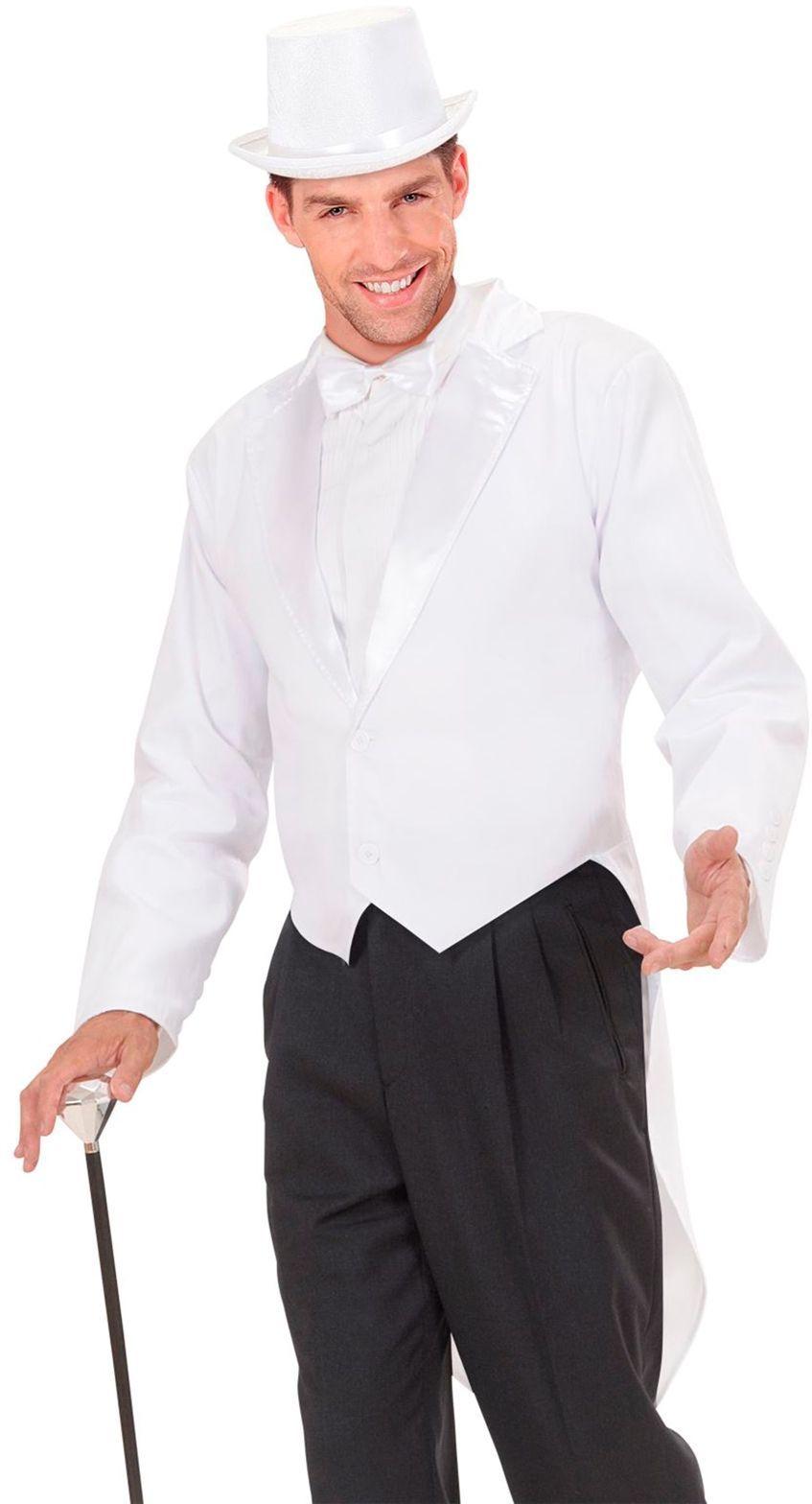Witte frackjas man met kraag