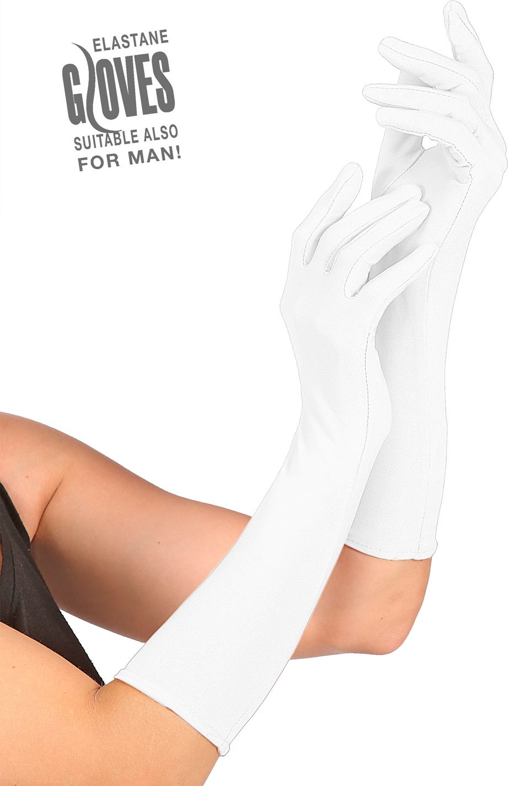 Witte gala handschoenen