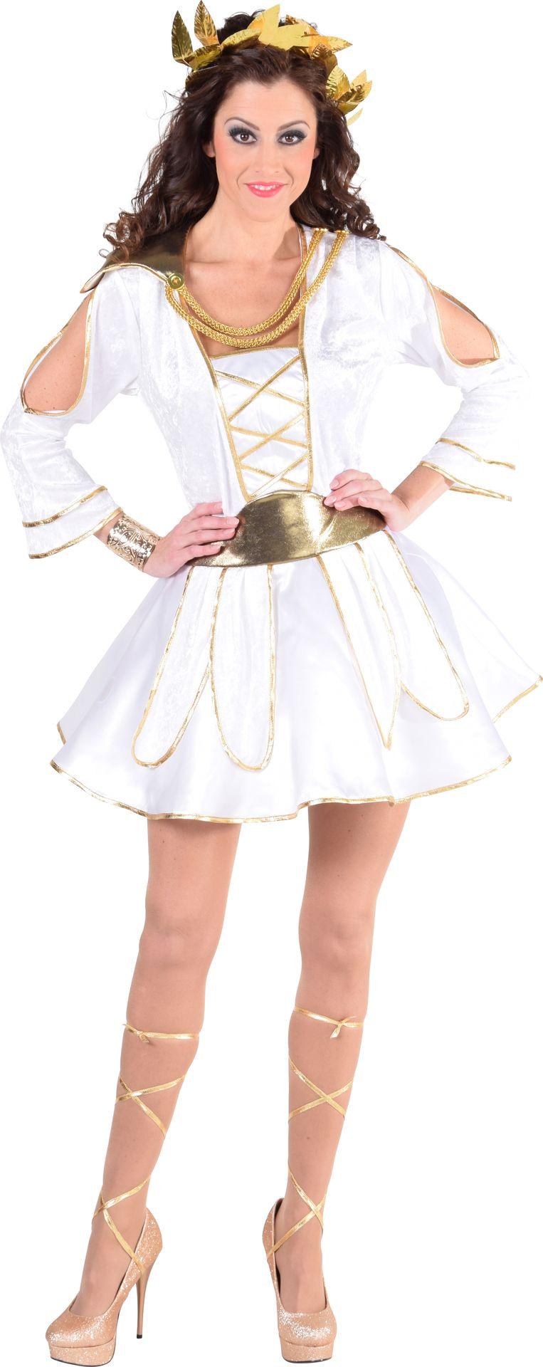 Witte griekse jurk vrouwen