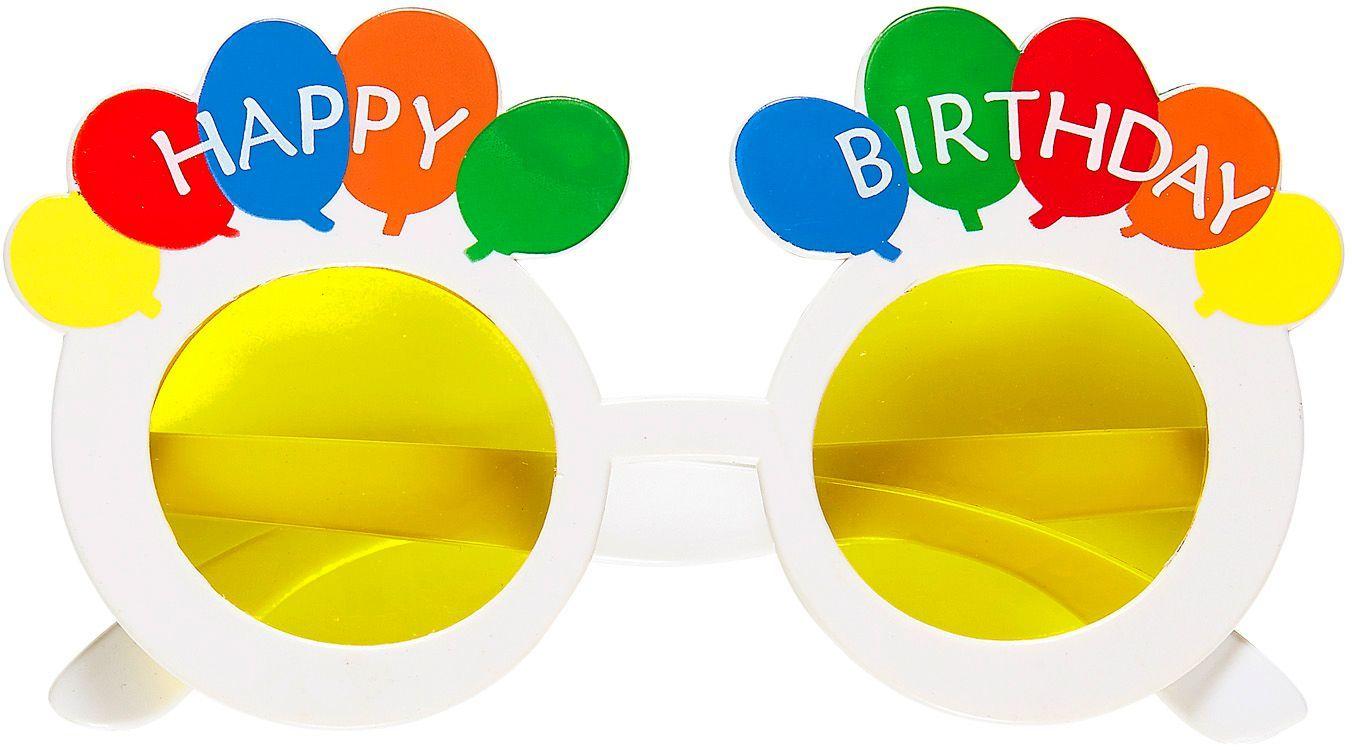 Witte Happy Birthday bril