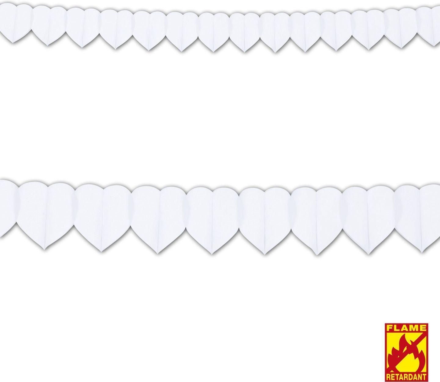 Witte hartjes guirlande