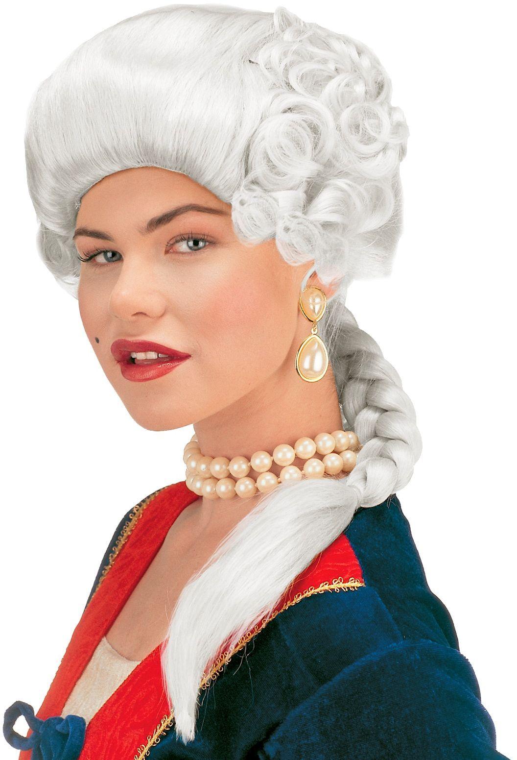 Witte hertogin pruik