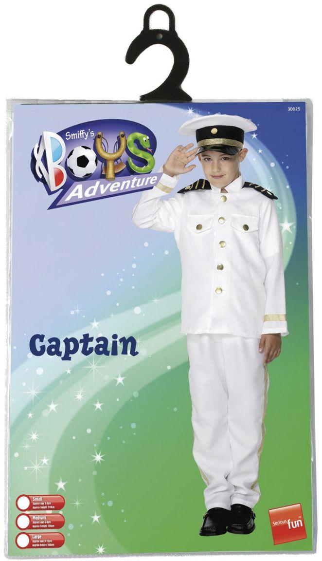 Witte jongens kapiteinspak