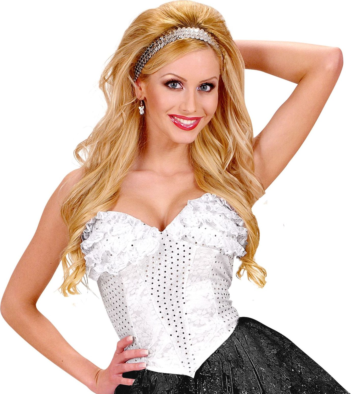 Witte kanten corset