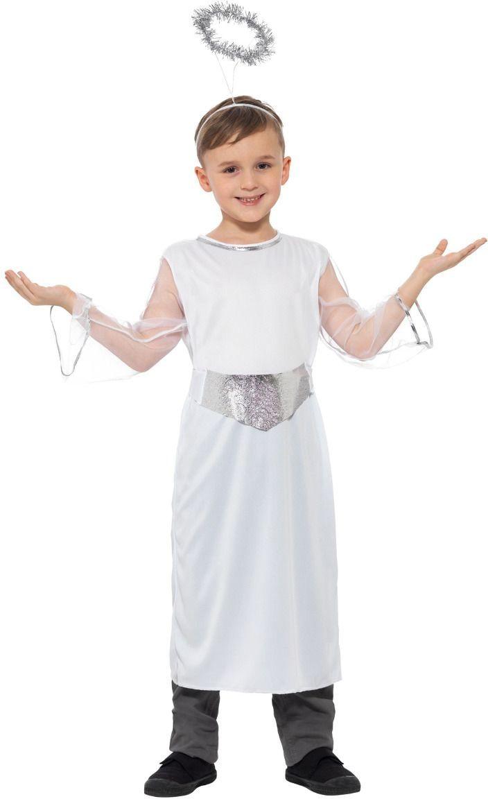 Witte kerstengel meisjes outfit