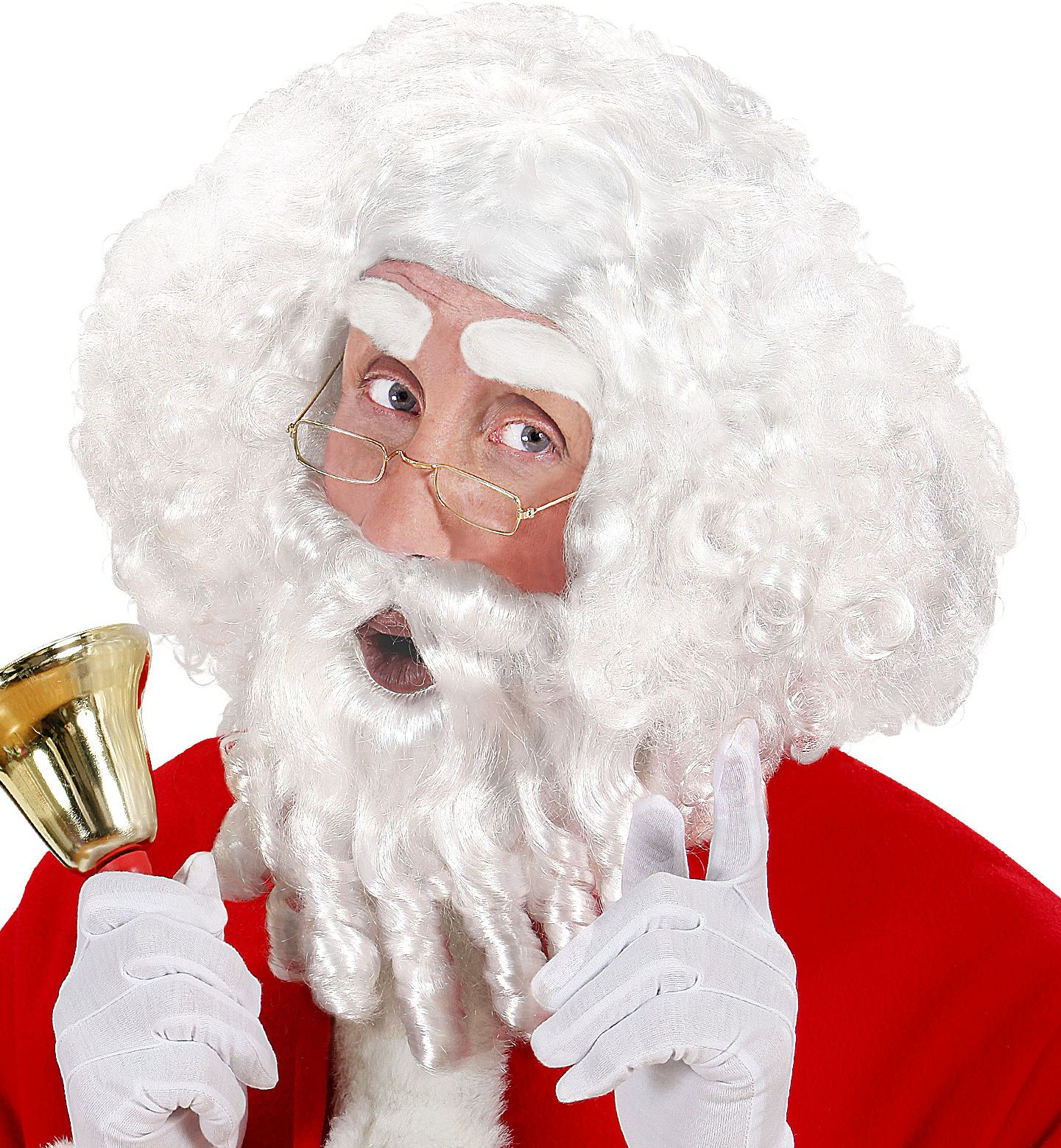 Witte kerstman pruik