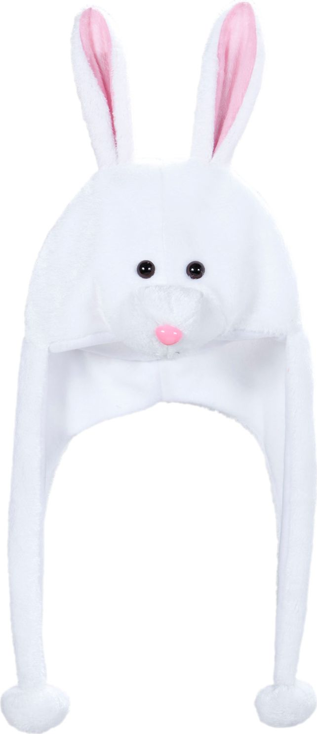 Witte konijn muts