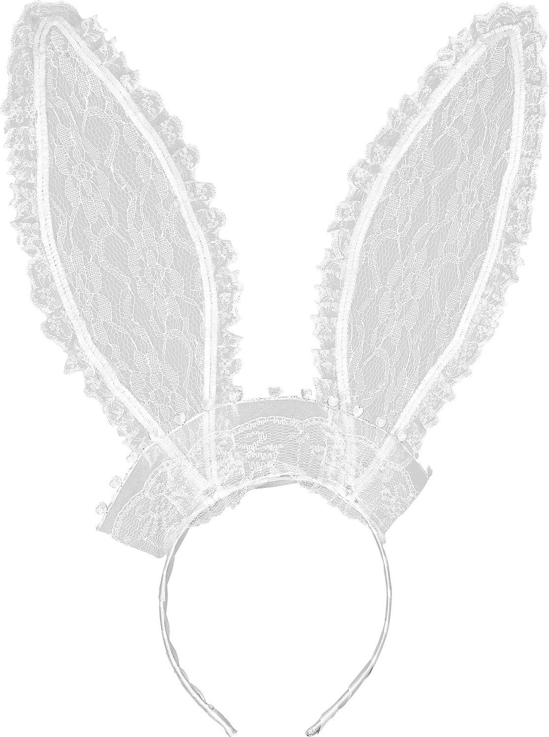 Witte lace konijn oren