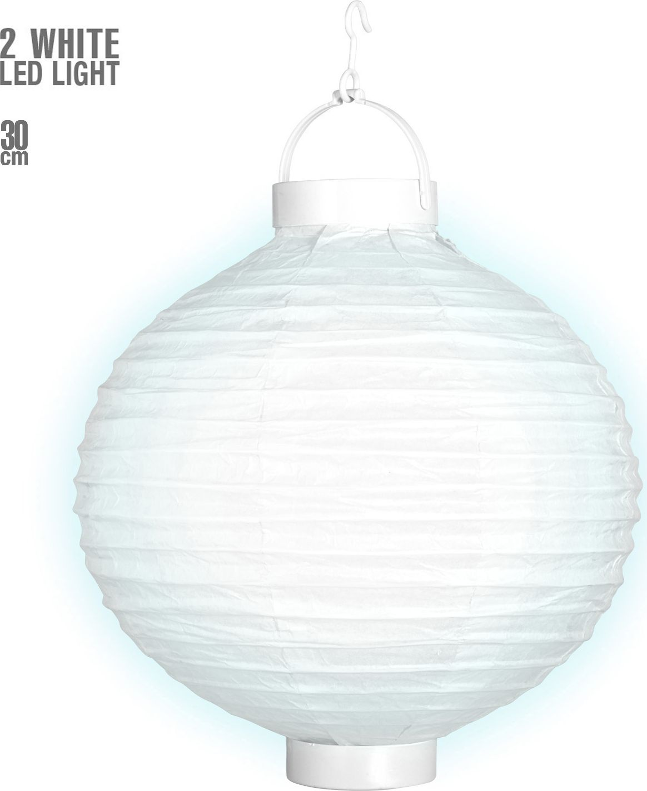 Witte lantaarn met 2 witte LED lichten