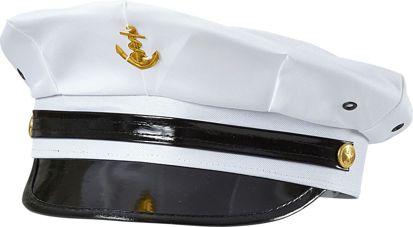 Witte marine officiers pet