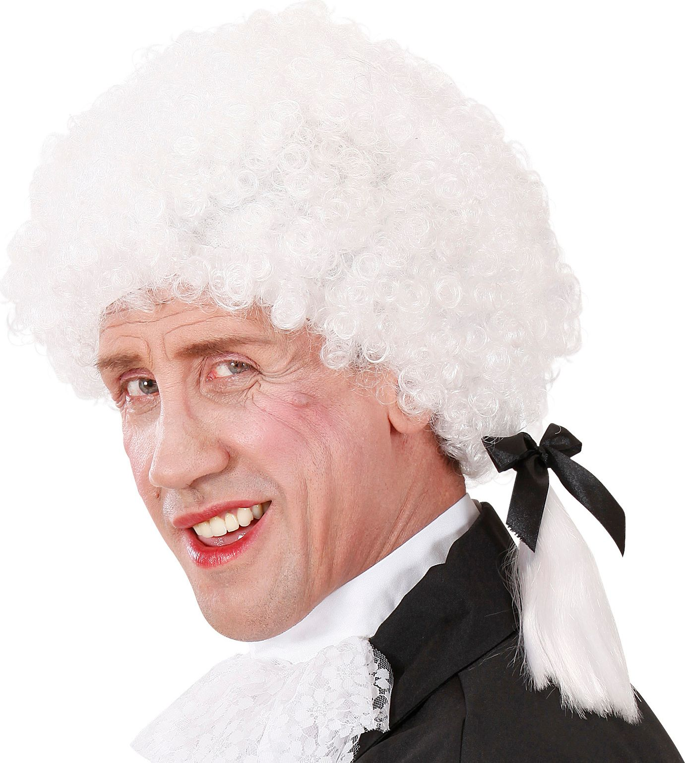 Witte Mozart pruik