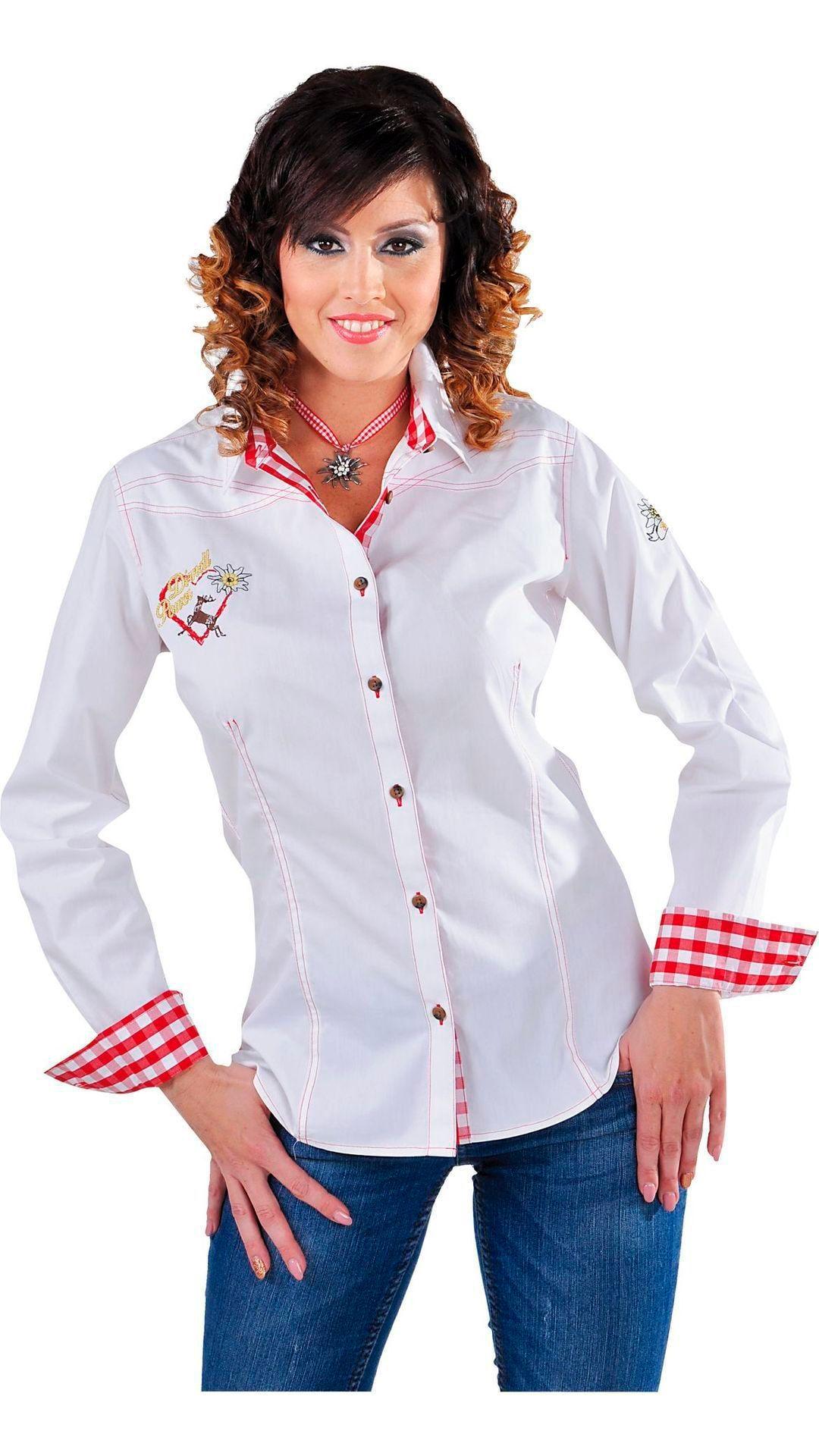 Witte oktoberfest blouse vrouw