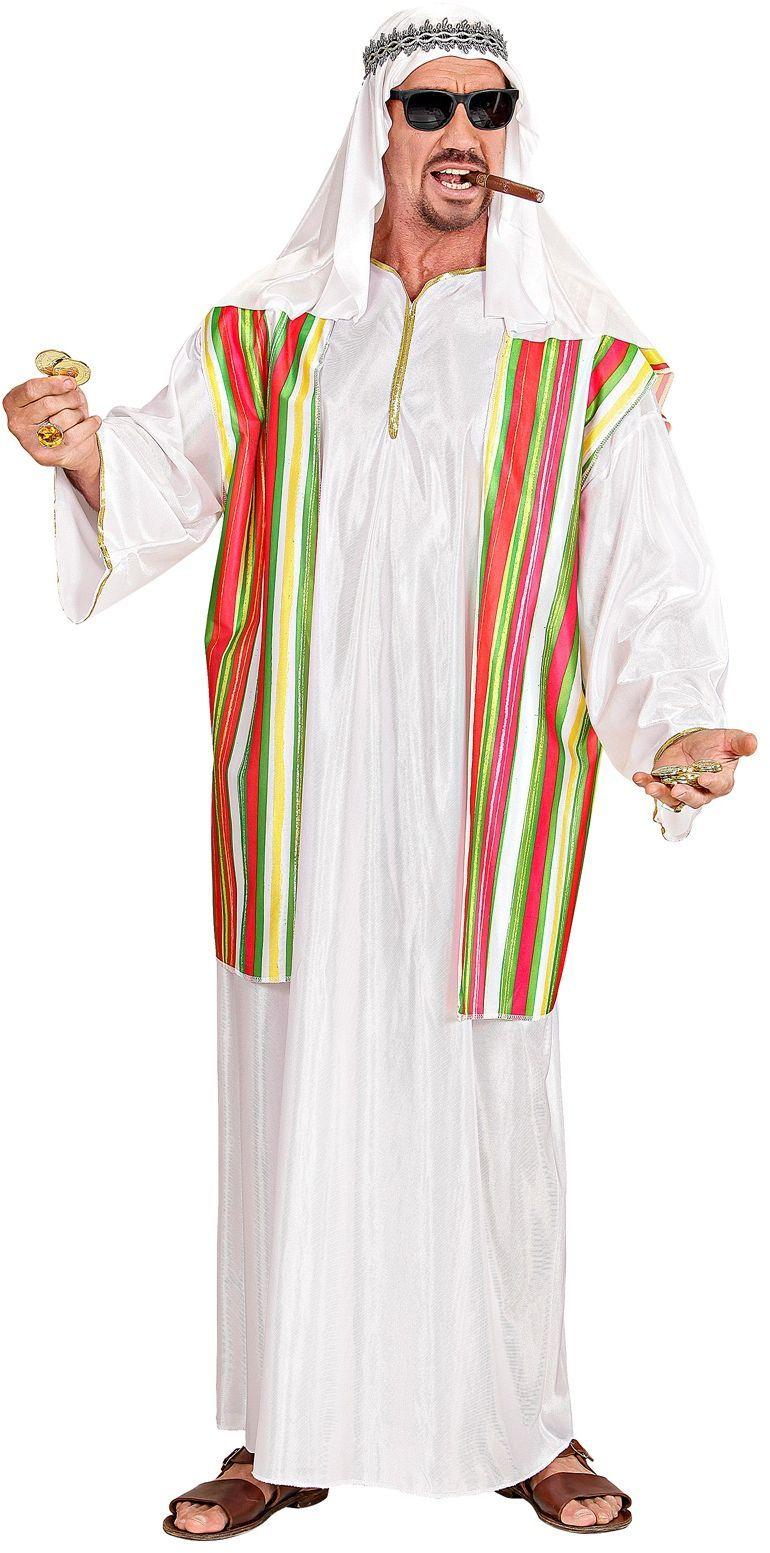 Witte olie sjeik kostuum
