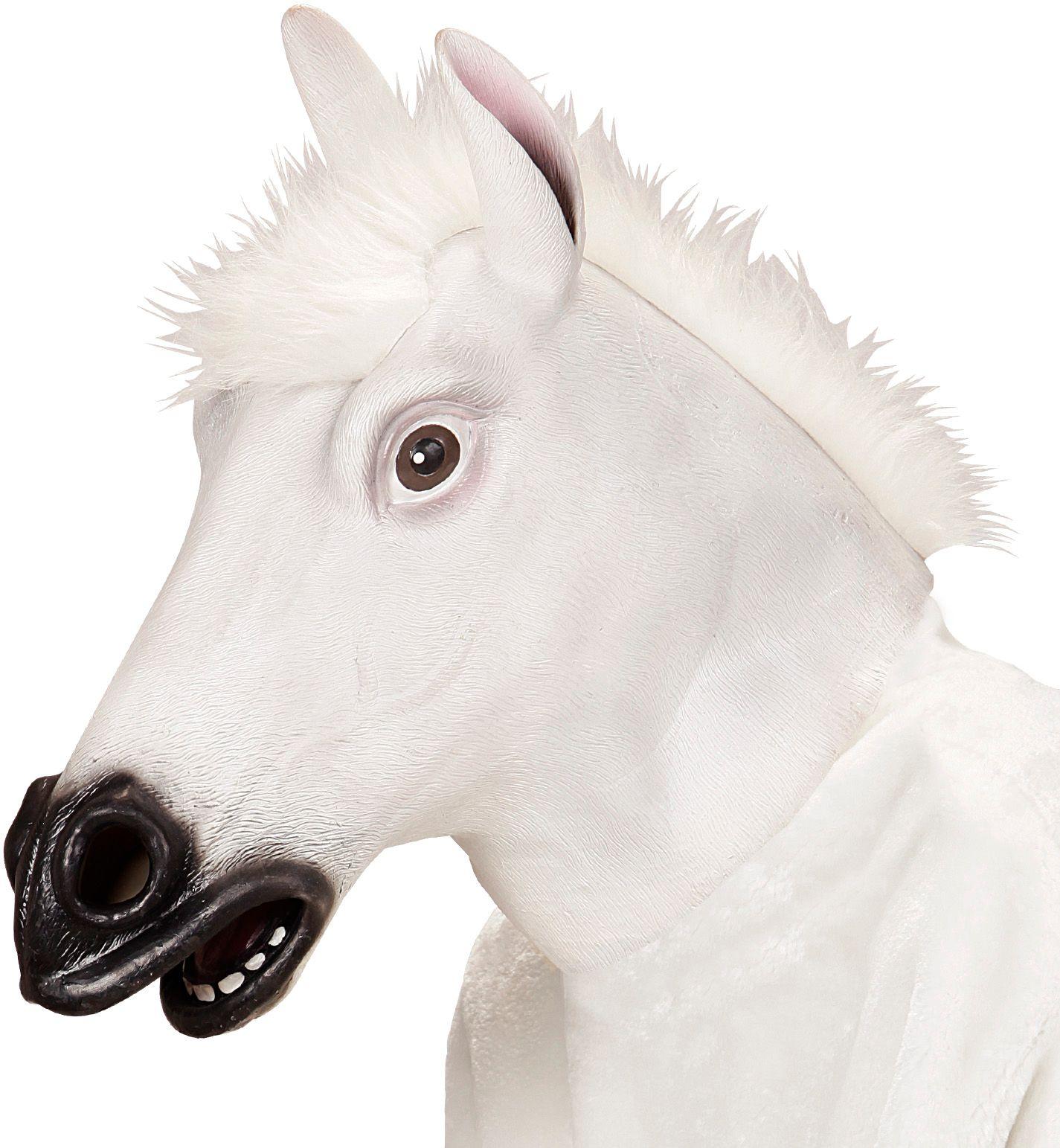 Witte paarden masker