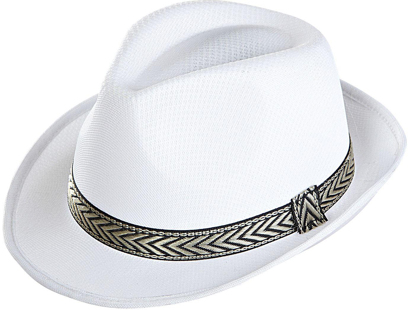 Witte panama fedora