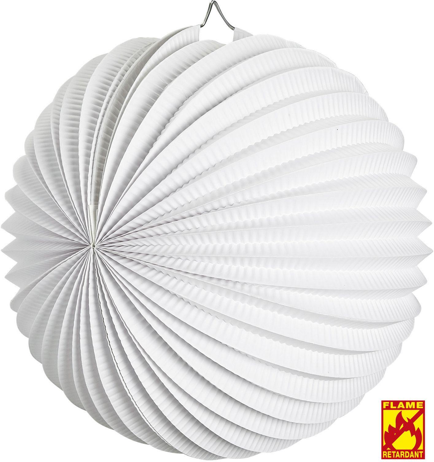 Witte papieren decoratie bal