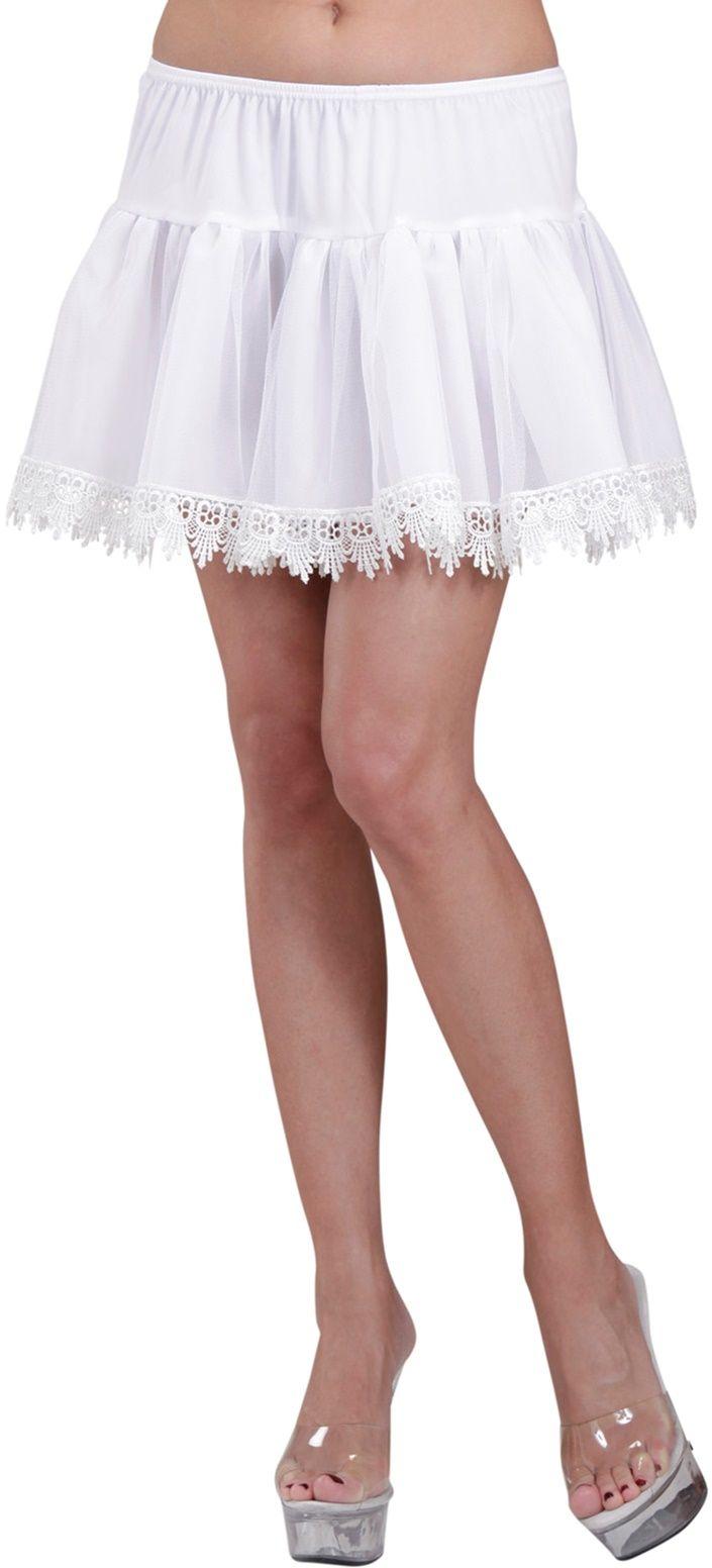 Witte petticoat met franjes