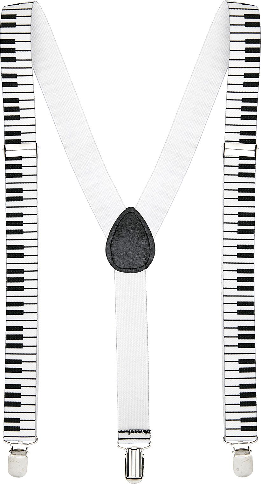 Witte piano bretels