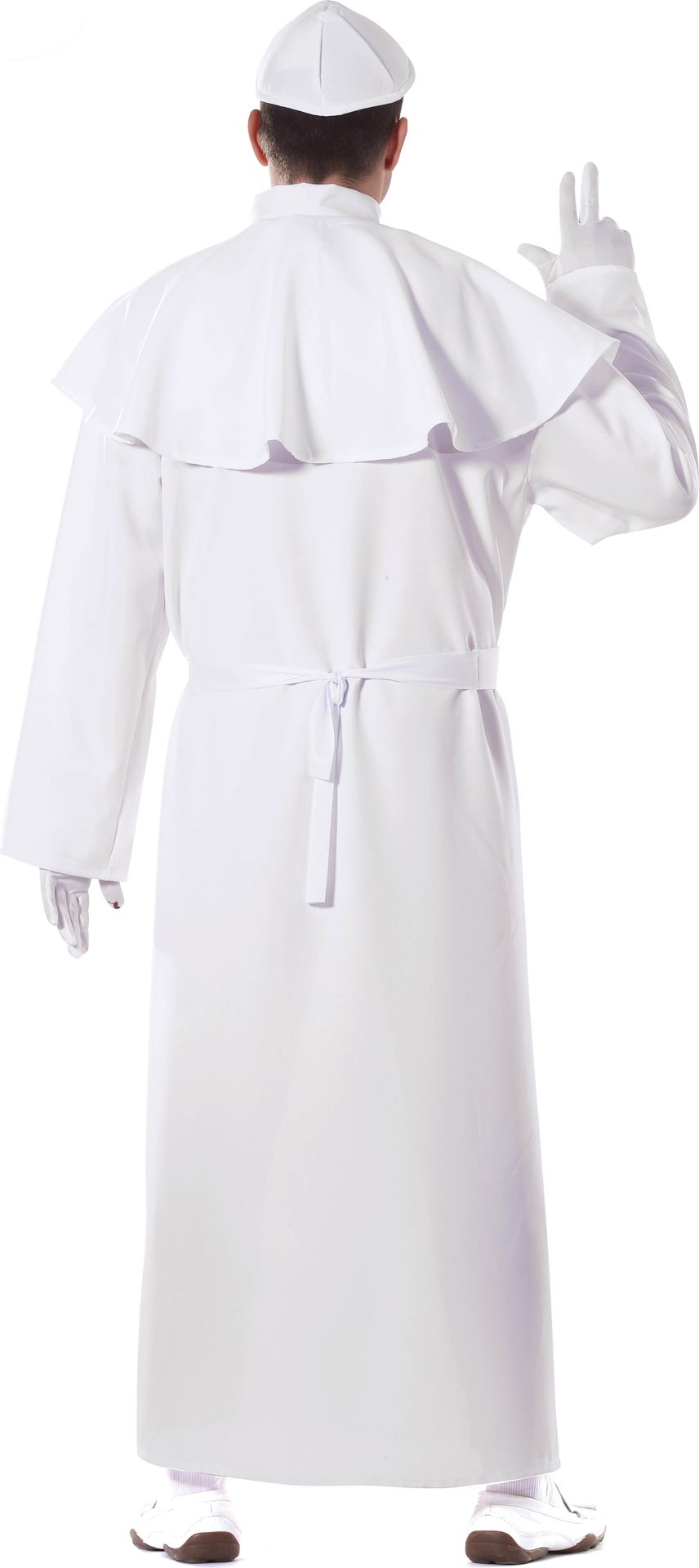 Witte priester kostuum
