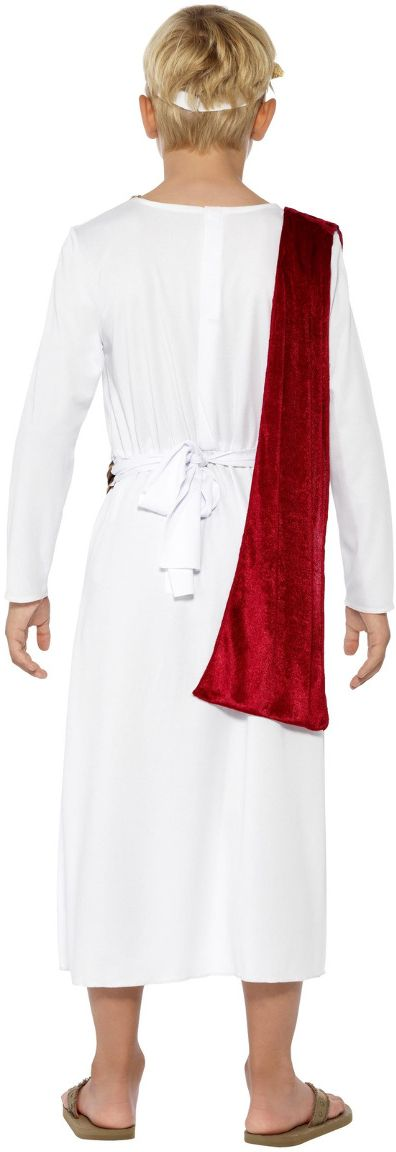 Witte romeinse keizer kostuum jongens