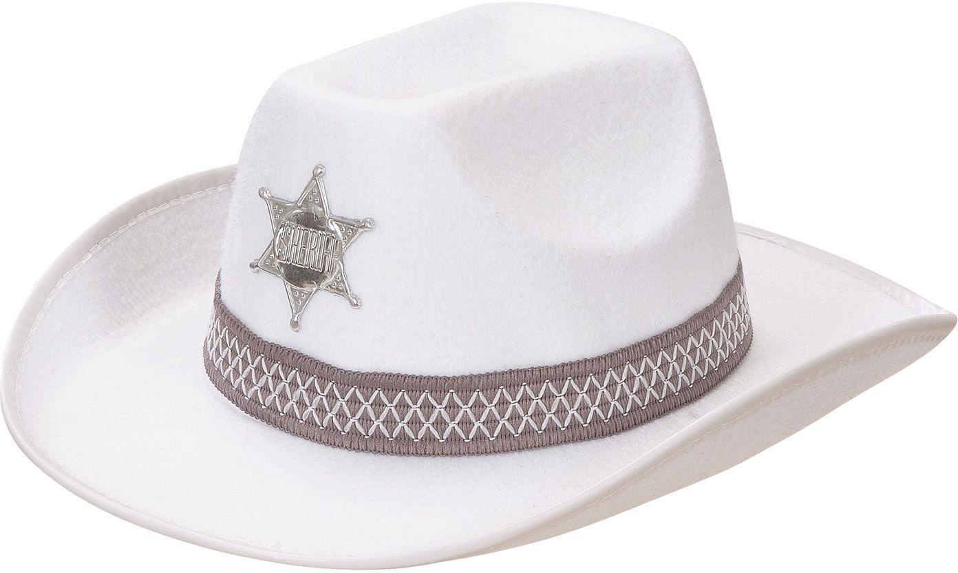 Witte sheriff hoed