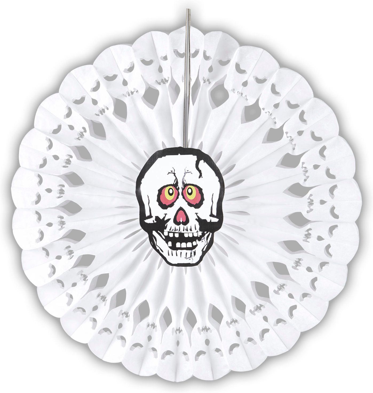 Witte skelet waaier