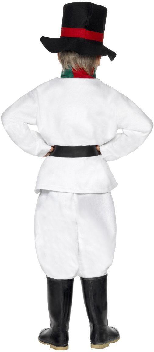 Witte sneeuwman outfit