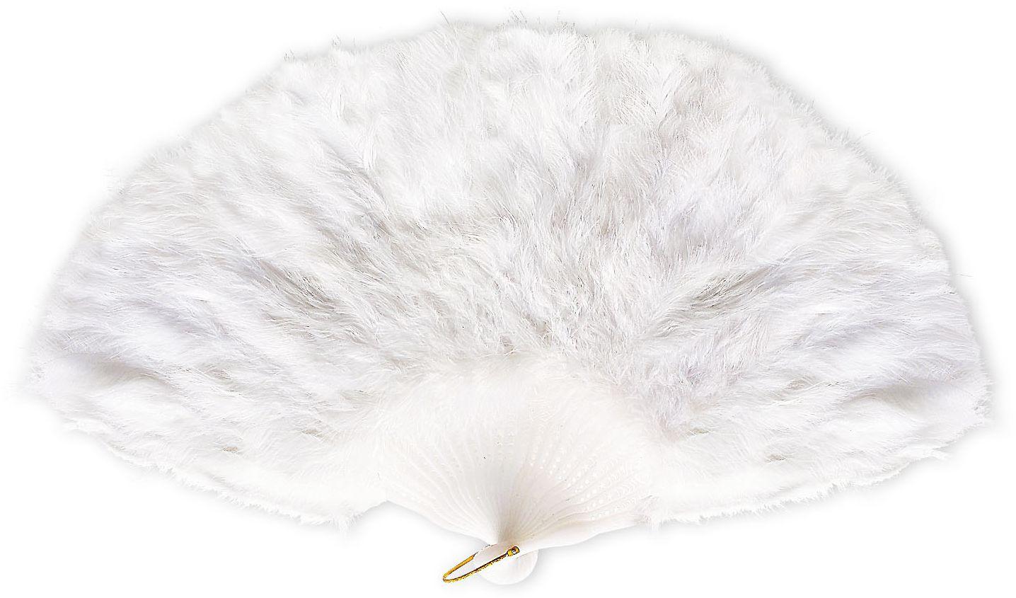Witte veren waaier