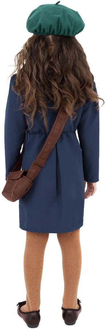 WO II blauwe meisjes outfit